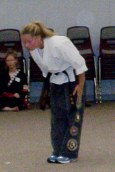 Sensei Jenelle demonstrating kata